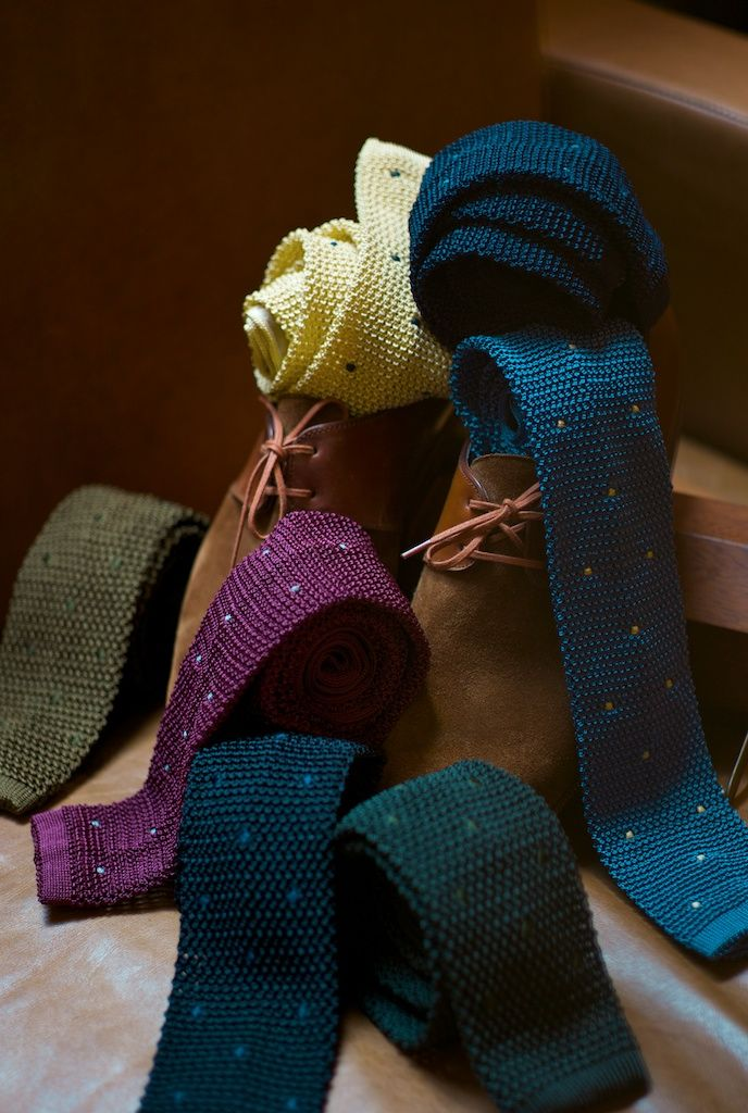 knit ties = timelessly fresh