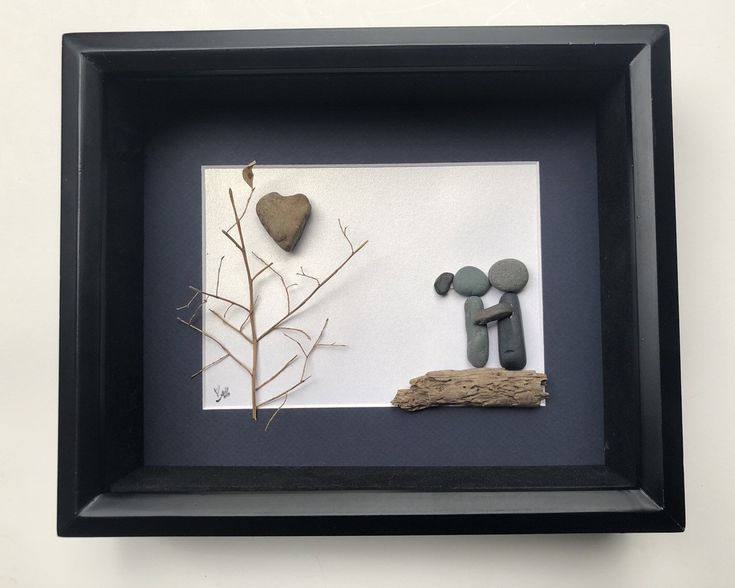 Personalized Pebble Art Engagement Gifts Pebble Art Home Decor COUPLE'S Gifts Unique Boyfriend Gift Custom Gift Motivational Framed Artwork