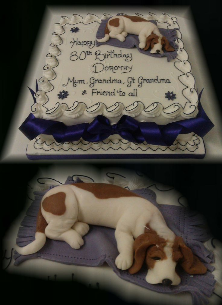 Bassett Hound Birthday Cake   www.cakesbymary.co.uk
