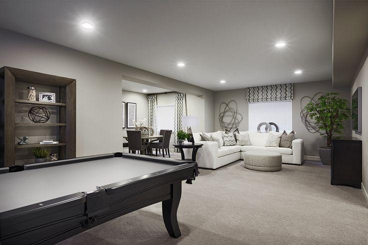 Finished Basement Rec Room | Yorktown Model Home | Herriman, Utah |  Richmond American Homes