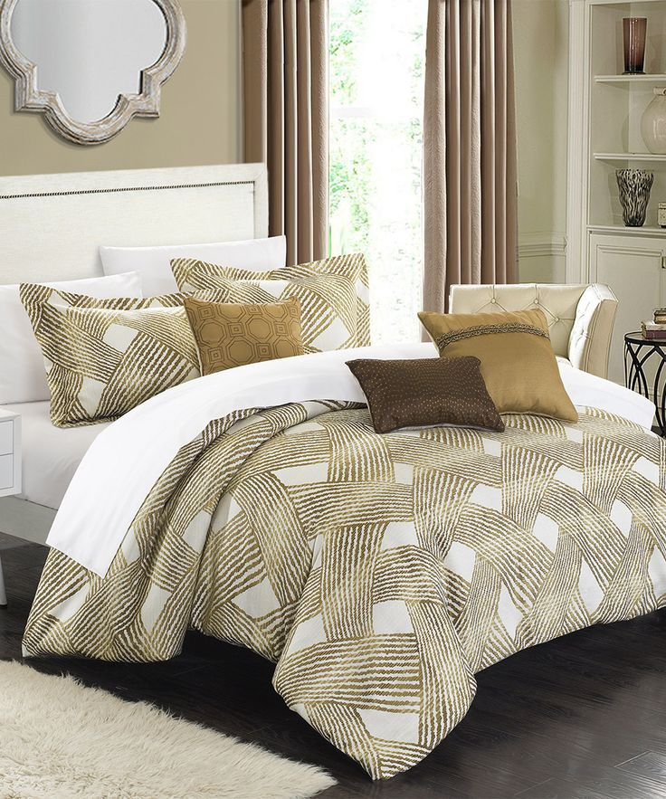 Look at this Delacroix Gold Comforter Set on #zulily today!