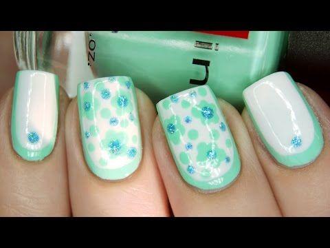 Mięta manicure: zdjęcia pomysły. Mięta manicure z różowym, wzorzyste, z cekinami, francuski, wideo