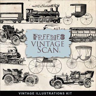 Freebies Vintage Transport Illustrations