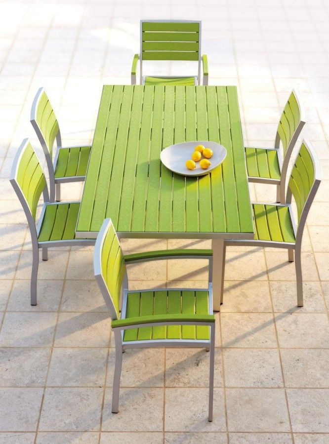Green Resin Patio Chairs Painted Table And Plastic Outdoor Furniture 6 Accessories Garden Balcony