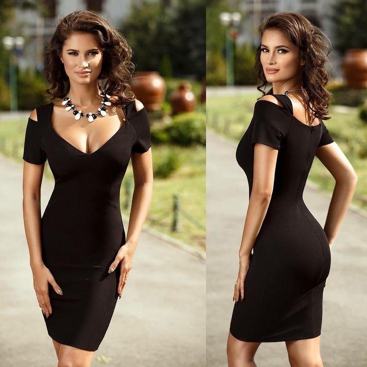 Rochie Maya Neagra Pret: 169.00 Lei - https://goo.gl/3t2KvU #rochiiieftine #blackdress #rochiedeseara #rochie #rochii2017