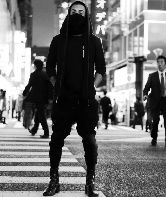   B L V C K   Style: 'Goth Ninja'    Streetstyle Inspiration for Men! #WORMLAND Men's Fashion