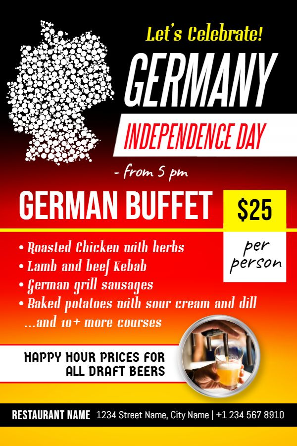 German day of unity buffet event poster flyer template german day german day of unity buffet event poster flyer template stopboris Images