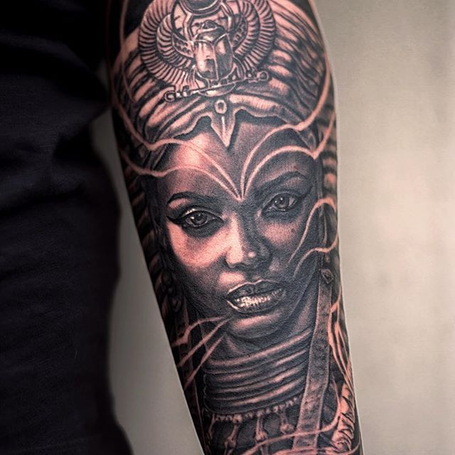Egyptian Queen Tattoos on Pinterest | Sphinx tattoo Nefertiti tattoo ...