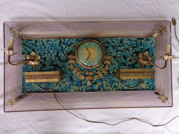 Vintage Mid Century Modern Zenith Wall Clock W/ Sconces #MidCenturyModernism #Zenith