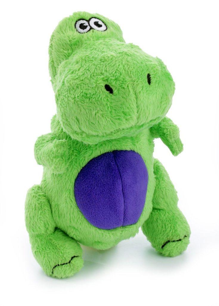 goDog Dinos TRex Dinosaur Dog Toy Size Small Green