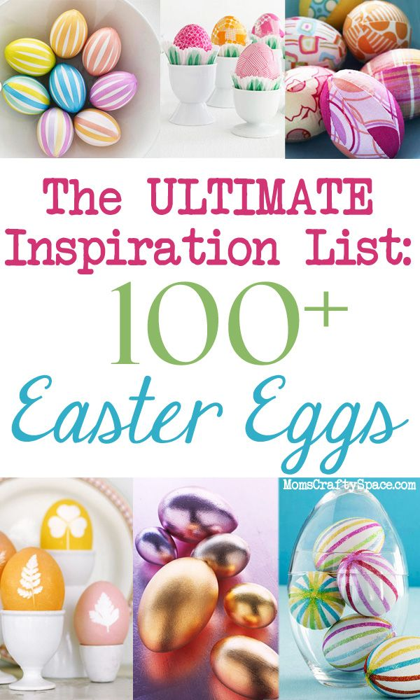 The Ultimate Easter Egg Inspiration List: over 100 ways to dye, decorate and embellish!