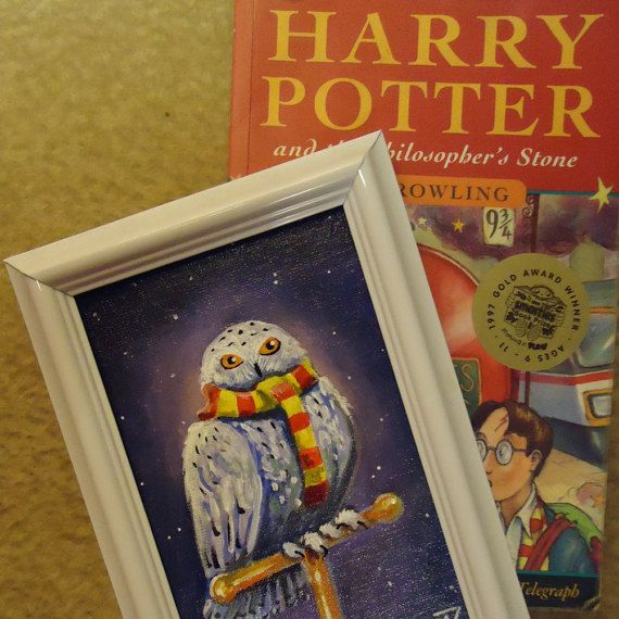 Buy handmade Painting Owl Harry Potter