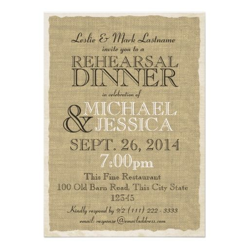 important details before your purchasing anyway here is the best buydiscount deals country burlap rehearsal dinner card online secure check out quick - Quick Wedding Invitations