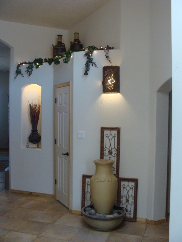 Decorating Foyer Ledge : Decorating plant ledge foyer entry decorations in