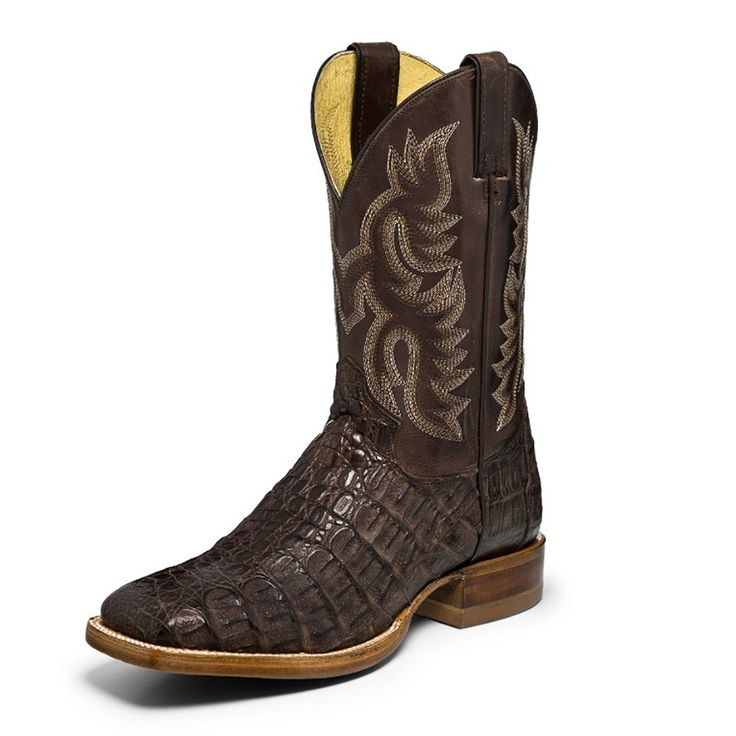 Men's Justin Boot Co. Voltage Almond Chocolate Caiman