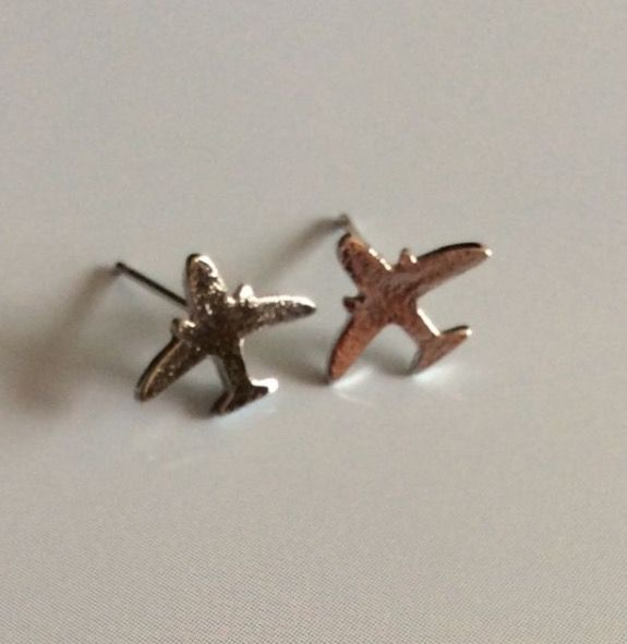 Silver Plated Aeroplane Earrings #present #gift #pilot #airstewardess #womens #silver #silverplated #aeroplane #airplane #sky #fly #studearrings #earrings #plane #ladies #fashion http://m.ebay.co.uk/itm/Free-Gift-Bag-Silver-Plated-Plane-Stud-Earrings-Ladies-Jewellery-Captain-Xmas-/282418625332?nav=SELLING_ACTIVE