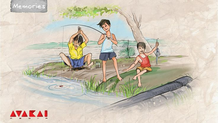 """Chepalu Pattatam"" or fishing was very popular in villages. Kids and village folk used to gather near lakes and streams to catch fish. Fish is usually hard to come by, and only tiny fish is usually caught, which is then cooked as fish curry. Yummy!  It was a great experience, and needs to be cherished."