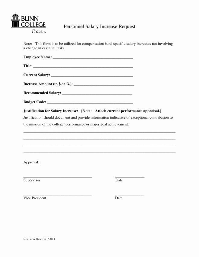 Employee Raise Form Luxury Printable Faculty Salary Adjustment Pay