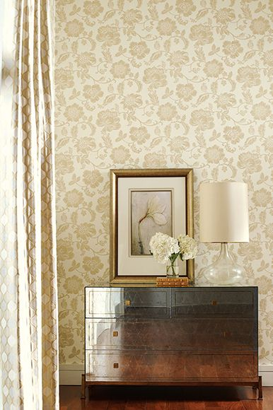 Fabricut - Gilded Glamour Wallpapers - ivory and cream.  Available exclusively in Australia from The Textile Company