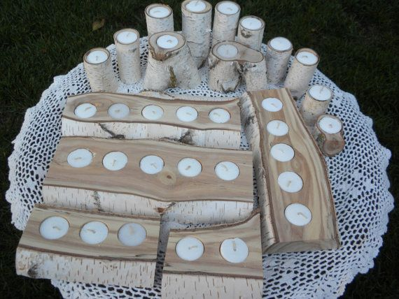 White Birch Candle Holders Perfect For Weddings By Craftsbymerle 48 00