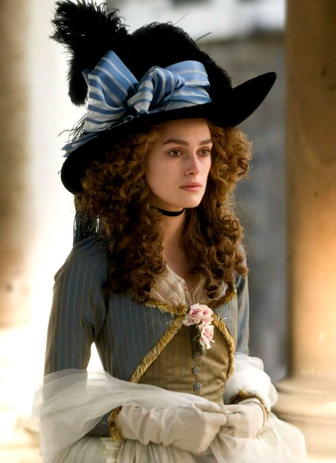 Famous for her style and extravagant hats, Georgiana, Duchess of Devonshire is portrayed by Keira Knightley in 'The Duchess', 2008
