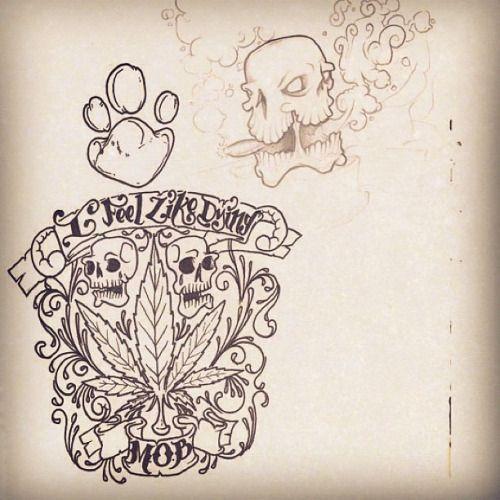 28 best new school skull and pot leaf tattoo designs images on pinterest leaf tattoos tattoo. Black Bedroom Furniture Sets. Home Design Ideas