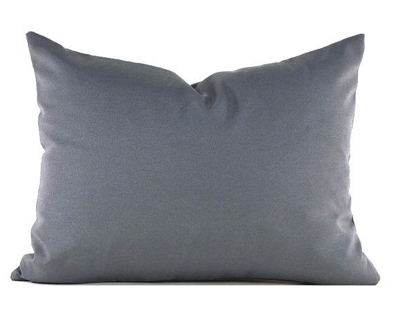 60% remanente almohada Lumbar gris oscuro decorativos almohada cubierta Mill Creek exterior gris sólido