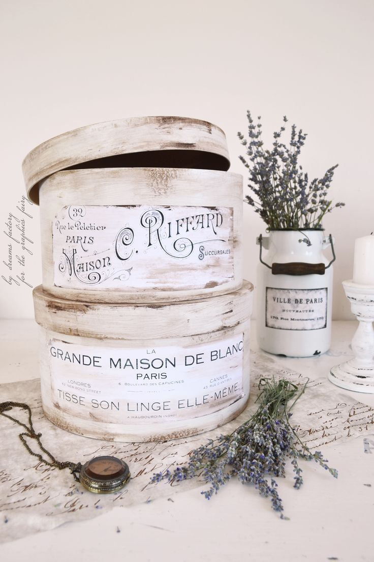 Craft hat boxes - Antique French Hat Boxes Project