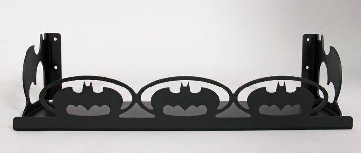 bat theme shelf - black anodised finish