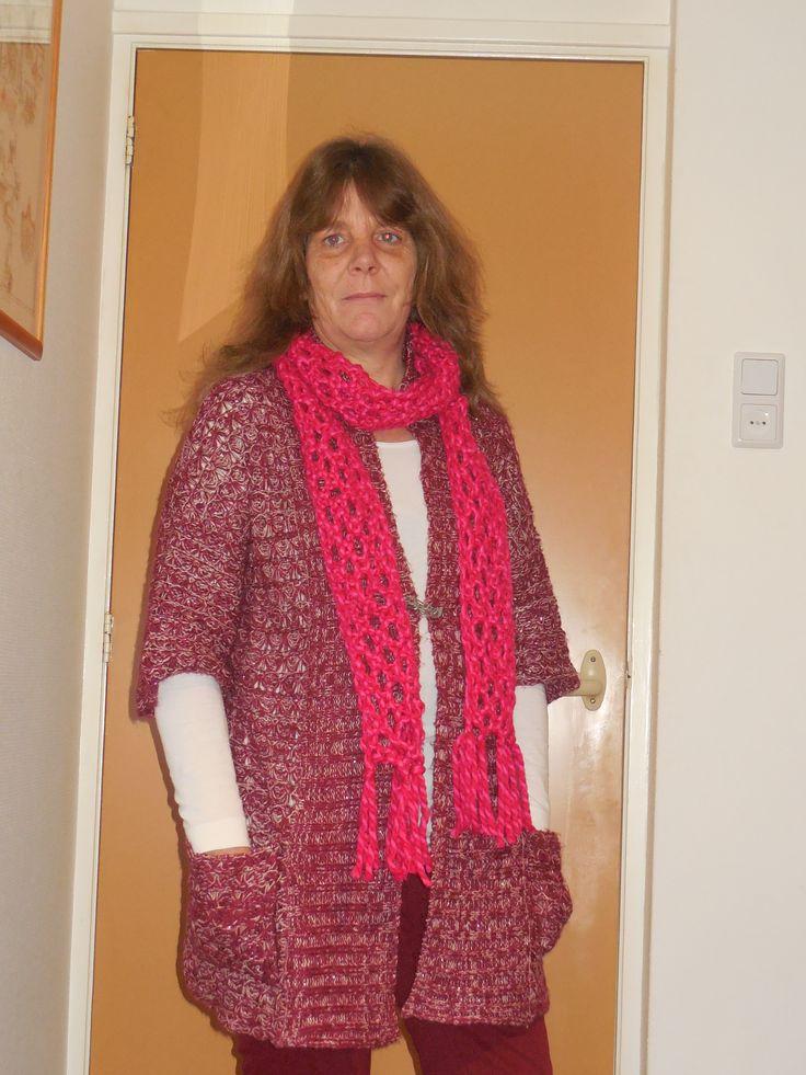 Sjaal geklost zonder klossen