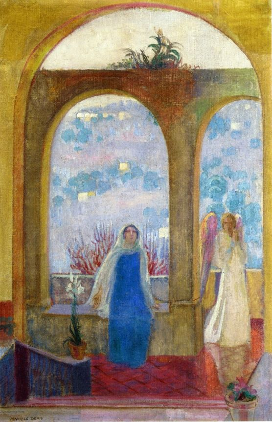 Maurice Denis, The Annunciation under the Arch with Lilies, 1913, Oil on canvas, 74,6 x 48,2 cm, Private