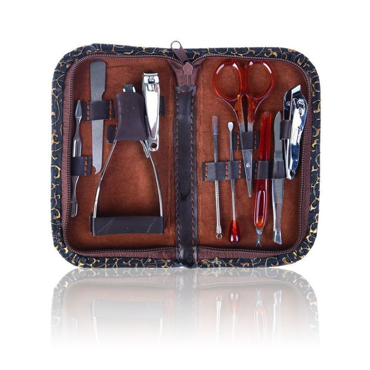 Shany 10-piece Chic Manicure Pedicure Kit with Case