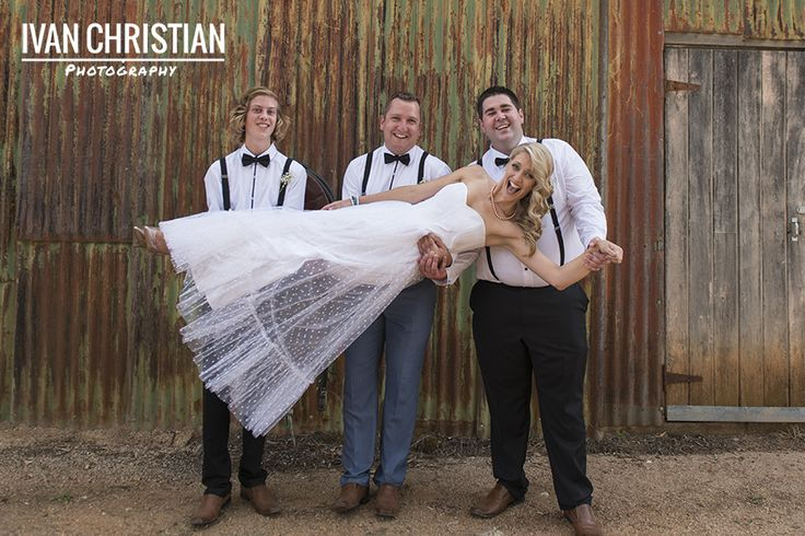 Joelle with the groomsmen - Ivan Christian Photography