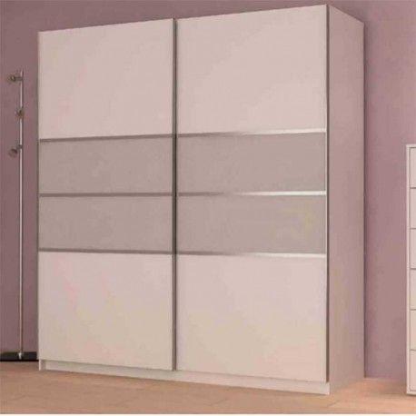 fantstico armario ropero para habitacin con dos puertas correderas con guas metlicas este es un