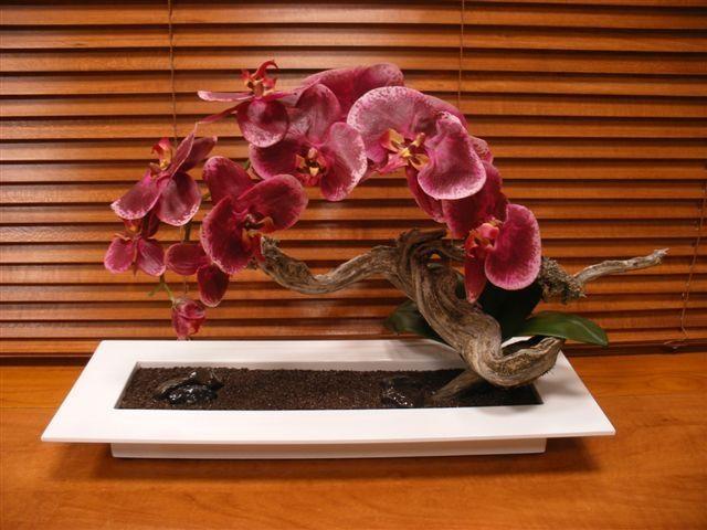 M s de 1000 arreglos florales con orquideas en pinterest for Centros de mesa artificiales