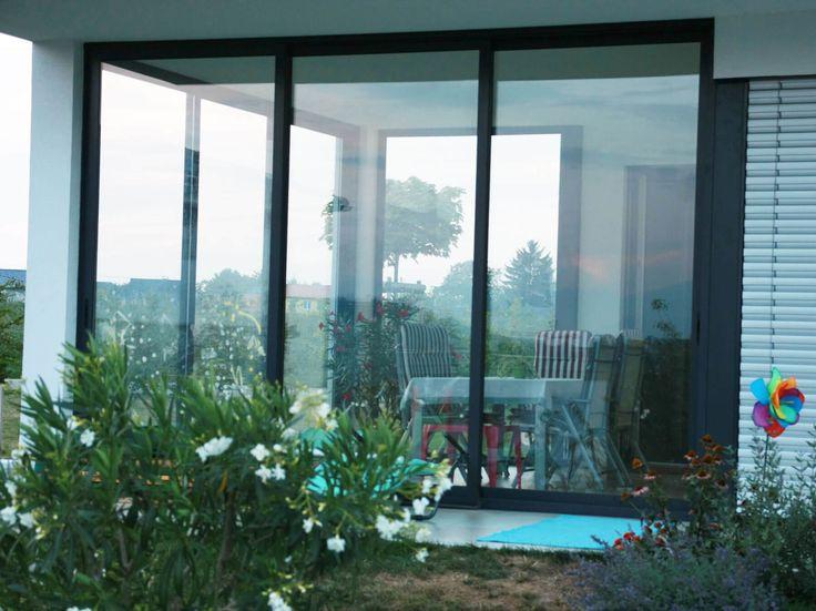 Die besten 25+ Balkon schiebetür Ideen auf Pinterest Schiebetür - trennwand garten glas