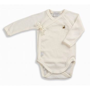 New Zealand New Zealand Merino Wool Crossover Bodysuit By Dimples