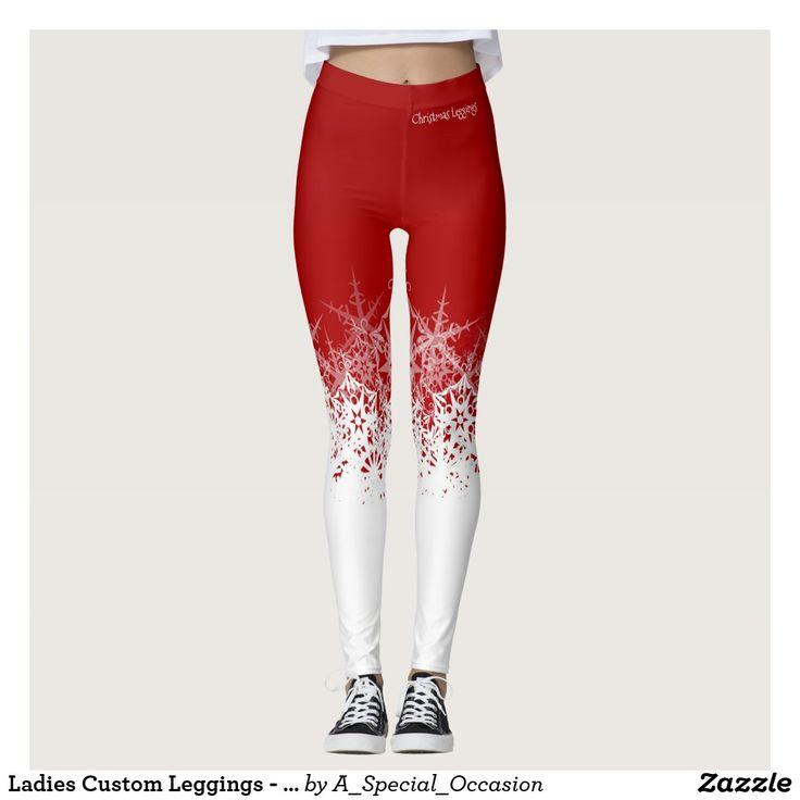 Ladies Custom Leggings - Christmas Design