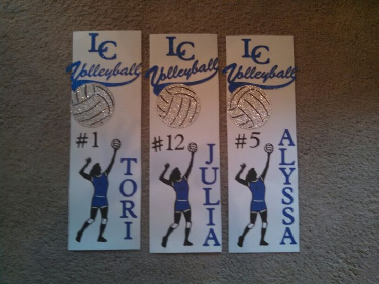 Volleyball Locker decorations