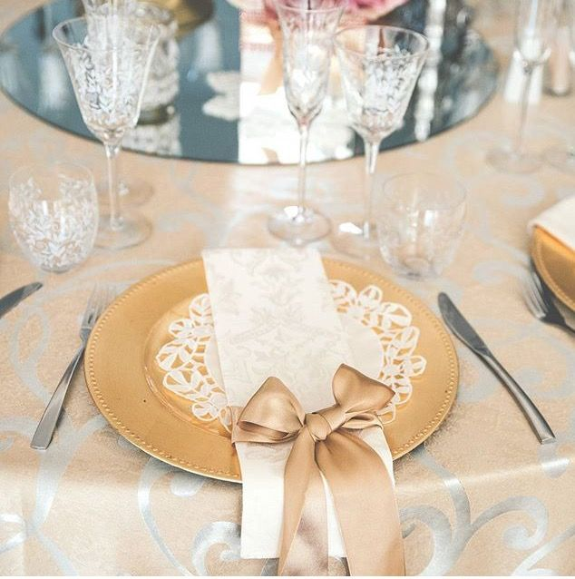 Gold and blush wedding decor. Simple, yet beautiful.