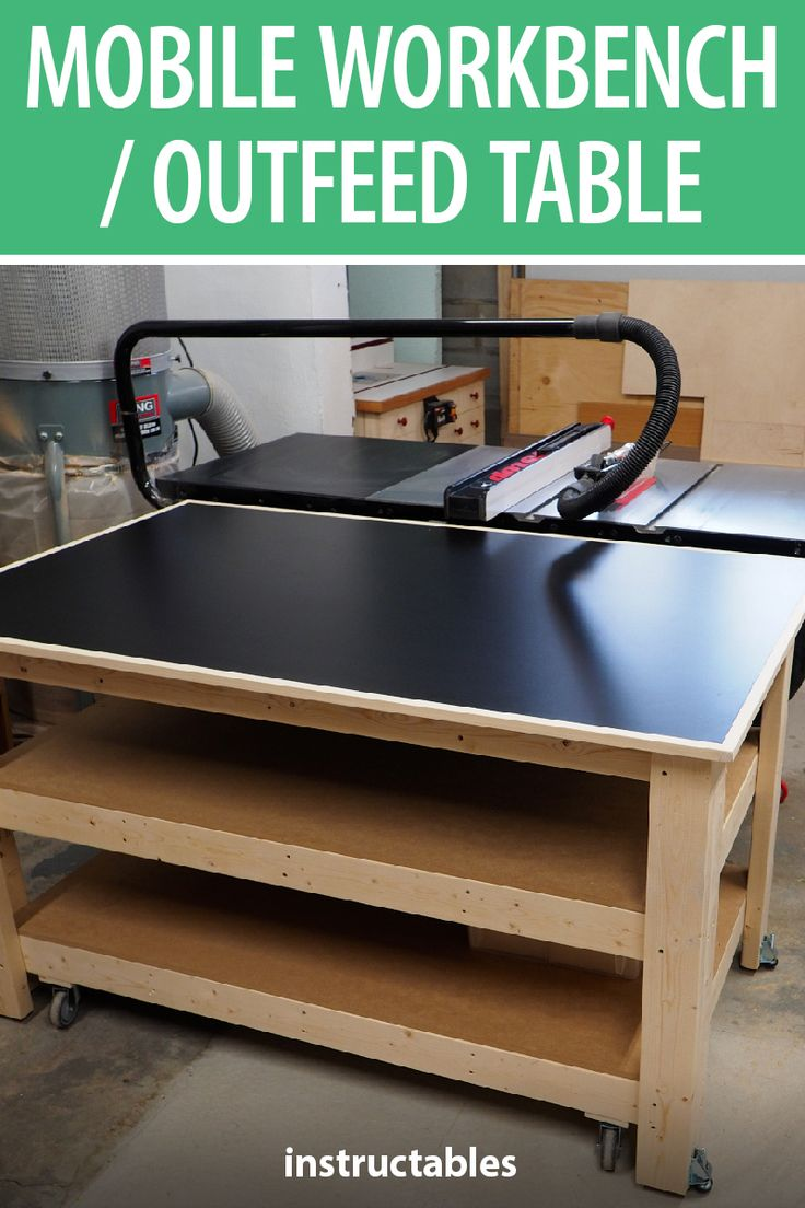 Build a 2x4 mobile workbench with casters that also