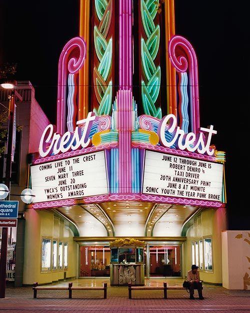 Retro cinema architecture: Crest  Theater in Sacramento, CA by photographer Stefanie Klavens