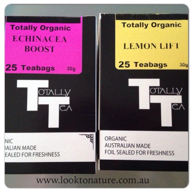 Two new certified organic teas available at www.looktonature.com.au
