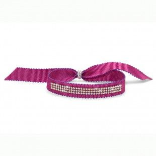 Oliver Weber Women funny pink ribbon bracelet drolly with Swarovski Crystals
