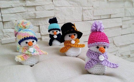 Häkelanleitung süße Schneemänner - die Fröstchens