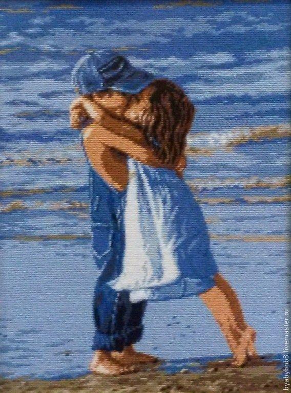 Купить Гобелен Первый поцелуй - картина, картина в подарок, картина в детскую, подарок