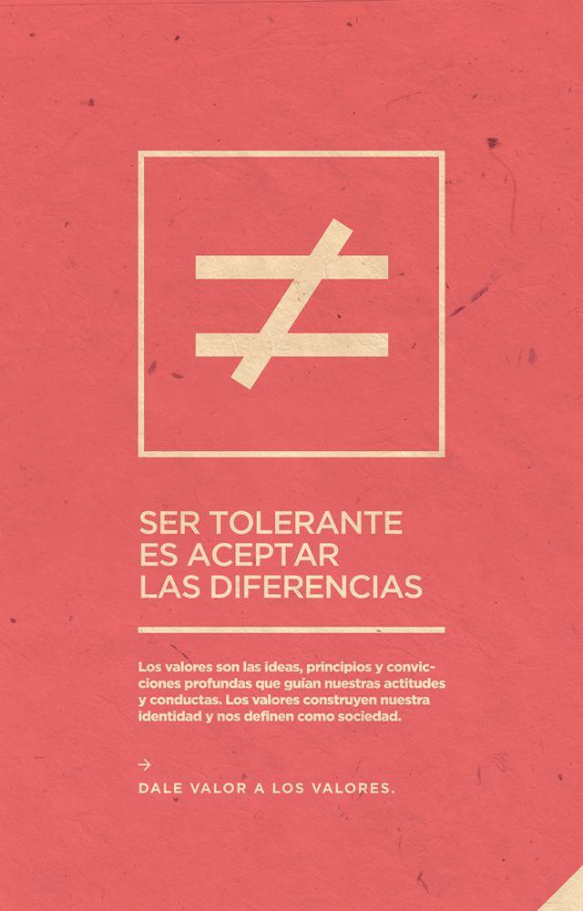 Afiche Tolerancia - Campaña Valores