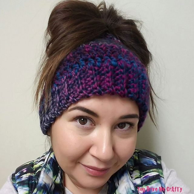 Ravelry: Bulky Ponytail Beanie pattern by You Drive Me CrAfTy