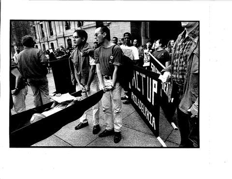 """#gayhistory #LGBT #activism - From one of my favorite people Christopher Bartlett: """"An ACT UP Protest around 1991. I'm standing next to Dominic Piccirelli (http://gayhistory.wikispaces.com/Piccirelli%2C+Dominic). I also see José F. Berroa-Sáro and Toni Resnick. I believe that David Acosta took the picture. Shot at City Hall in Philadelphia, Pa.""""Tony Resnick, Christopher Bartlett, Cities Hall, Dominic Piccirelli, People Christopher, Lgbt Activities, Gayhistori Lgbt, David Acosta, Favorite People"""