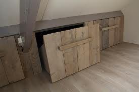 Rangement-banc en bois pour aménagement sous combles !